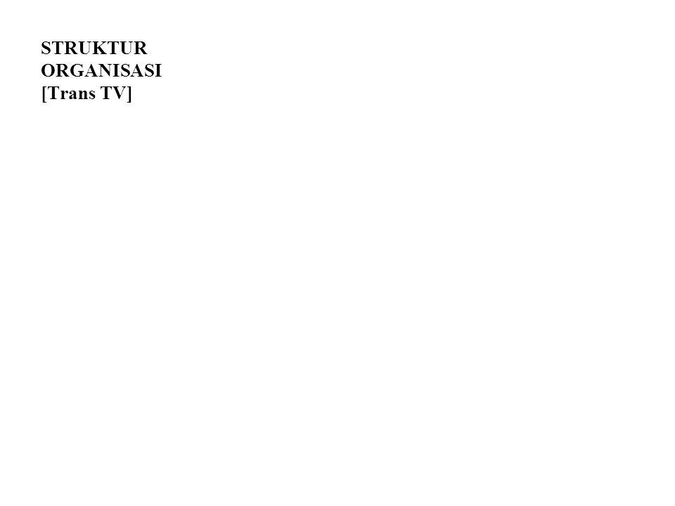 STRUKTUR ORGANISASI [Trans TV]